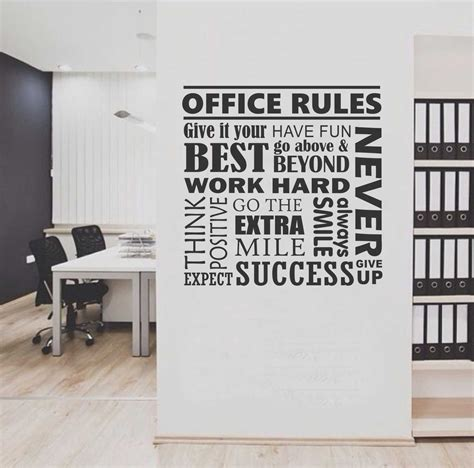 wall stickers office office collage quote wall lettering vinyl office