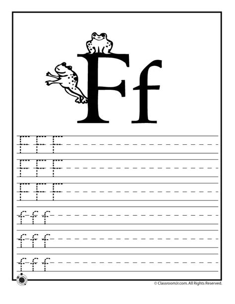 Learn Worksheets by Learn Letter F Woo Jr Activities