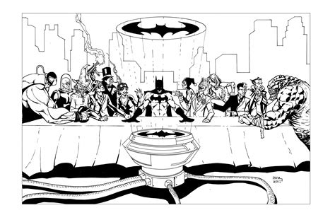 batman villains last supper ph by thecreatorhd on deviantart