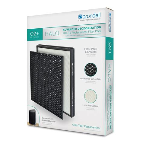 Air Purifier Advance brondell advanced deodorization replacement filter pack
