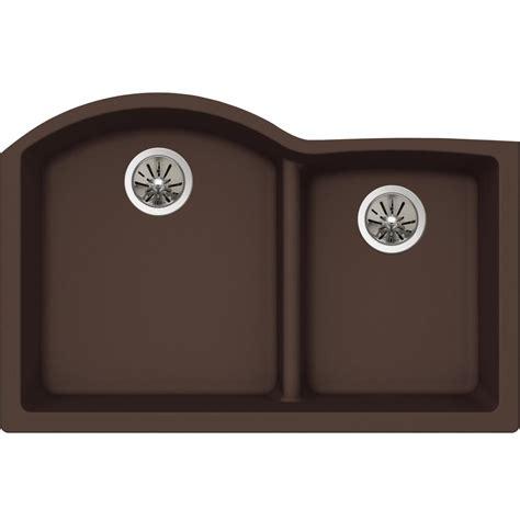 Elkay Premium Quartz Undermount Composite 33 In Double Premium Kitchen Sinks