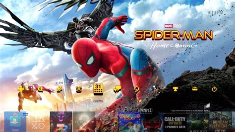 Ps4 Themes Marvel | spider man homecoming dynamic theme and avatars digital