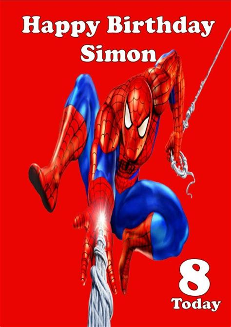 printable birthday cards spiderman birthday card colorful and interesting design spiderman