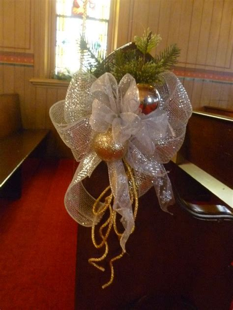 25  best images about Wedding Pew Decorations on Pinterest