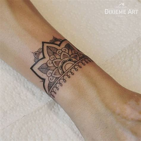 mandala wrist tattoo best 25 half mandala ideas on ankle