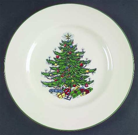 cuthbertson christmas tree narrow green band cream