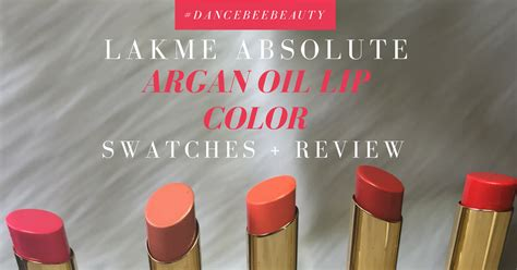 City Color Lipgloss With Argan Prom lakme argan lip color swatches review adivarekar diary of a dancebee
