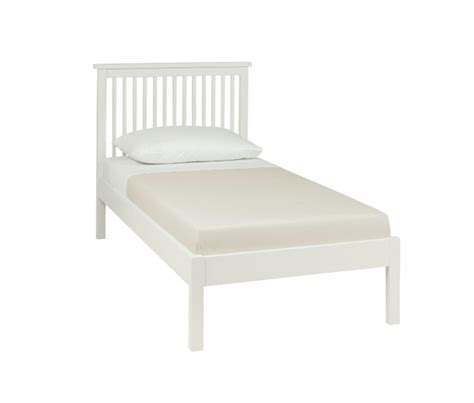Low Single Bed Frame Bentley Designs Atlanta White 3ft Single Low Foot End Bed Frame By Bentley Designs