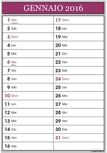 Calendario Giugno 2016 Calendario 2016 Per Appunti Da Scaricare E Stare