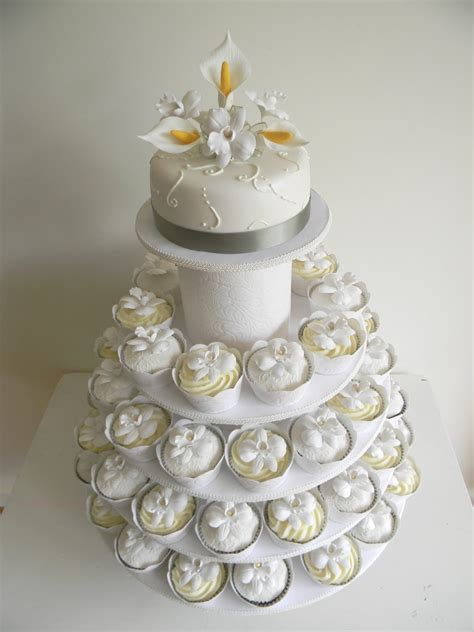 Wedding Cake With Cupcakes by Just Call Me Martha Celia Istvan S Wedding Cake Cupcakes