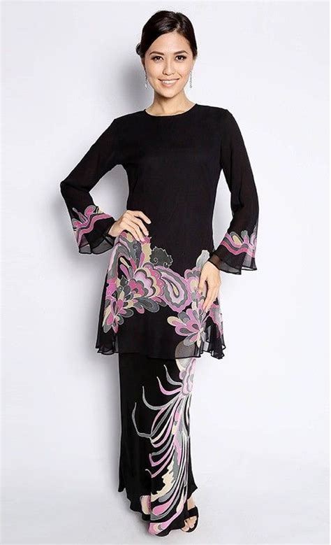 Baju Fixie Batik Top Pink bayou batik baju kurung maryam in black and pink traditional costume