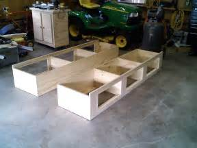 How To Build Wood Platform Bed Frame by Diy Full Size Platform Bed With Storage Image Mag