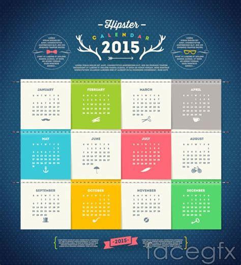 free calendar design templates 15 free 2015 vector calendar design templates designfreebies