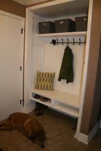 closet conversion into mudroom modern detroit