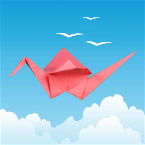 Origami Crane Flapping Wings - origami crane with flapping wings animaplates