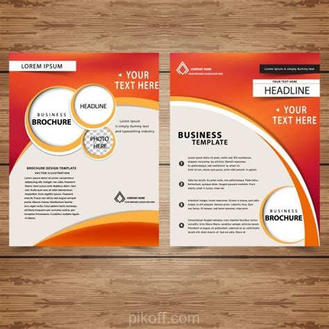ai professional business brochure templates vector free