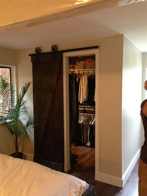 Walk In Closet Doors Barn Wood Closet Door Walk In Walk Out Pinterest