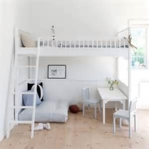 Bedroom idea loft bed creates more space little scandinavian