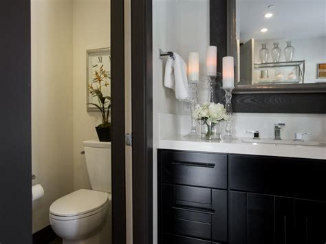 black and white bathroom photos hgtv