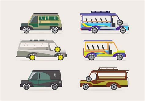 philippines jeepney vector jeepney transportation vector free vector