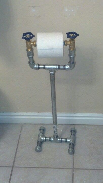 bathroom toilet paper holder ideas 1 2 quot galvanized pipe with faucet valves to make a toilet