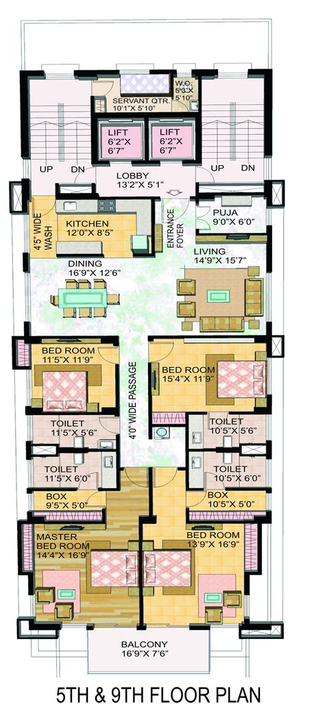 grandeur 8 floor plan 3472 sq ft 4 bhk 4t apartment for sale in aspirations