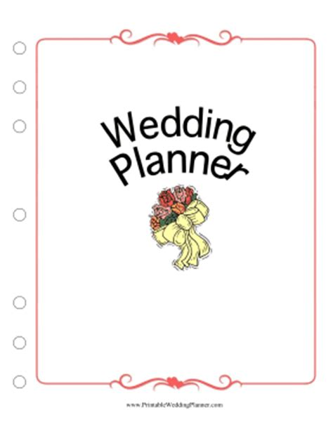 free printable wedding planner cover page wedding planner cover page
