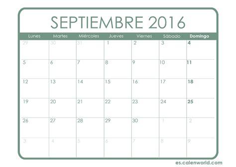 calendario septiembre 2016 para imprimir gratis calendario mensual calendarios