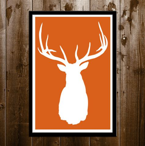 deer hunting art home decor sports poster wall art print elk silhouette hunting wall decor printable by