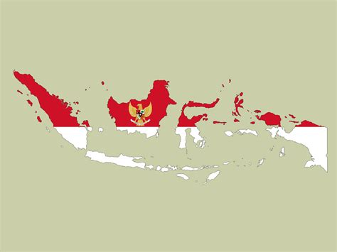 indonesia map ppt backgrounds grey red travel white