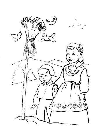 christmas  norway coloring page  printable