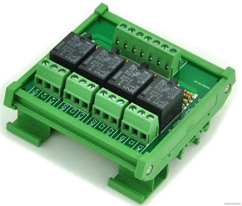 Relay 12v 10a Omron relevadores din rail din rail mount 4 spdt power relay interface module omron 10a 12v coil