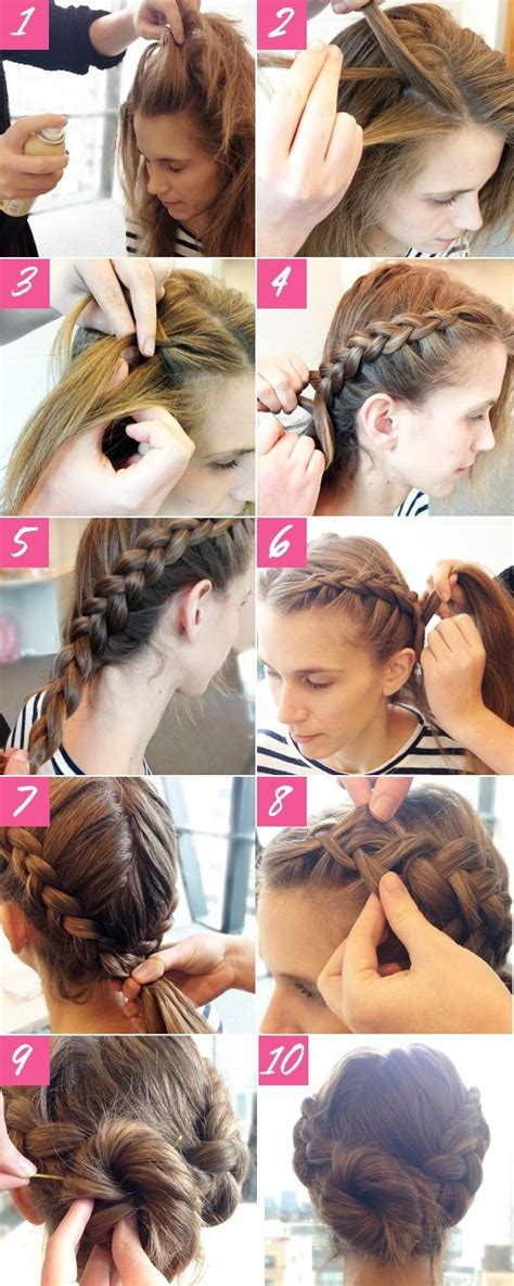 holiday braided updo tutorial medium hairstyle for long hair 10 super easy updo hairstyles tutorials popular haircuts