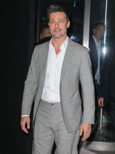 Find Pitt Brad Pitt In Well Tailored Suit At New York Premiere Of Okja