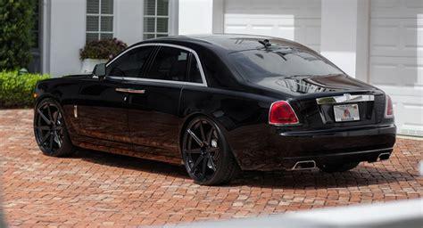 custom rolls royce ghost granite black wheels fit rolls royce ghost nicely