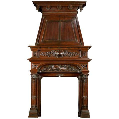 Walnut Fireplace Mantel by Renaissance Style Antique Walnut Trumeau Fireplace Mantel