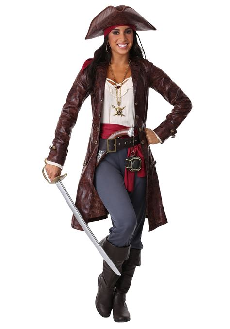 womens  pretty pirate captain costume