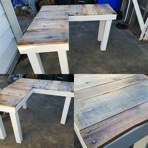 reclaimed wood l shaped desk best 25 l shaped desk ideas on