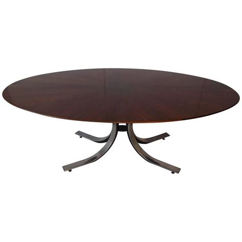 Large Oval Boardroom Table Osvaldo Borsani Large Oval Dining Conference Table W Radiating Walnut Top For Sale At 1stdibs