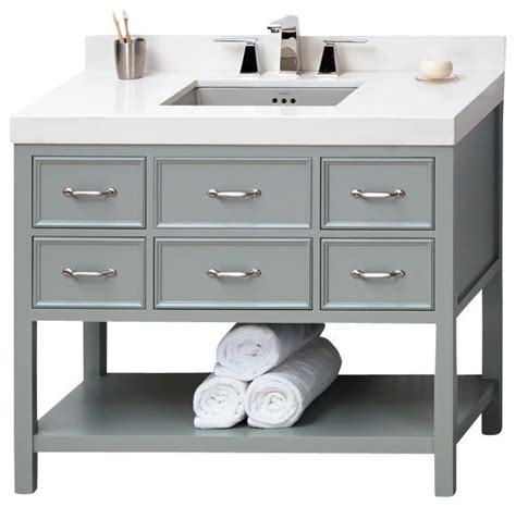 Bathroom Vanities Newcastle Shop Houzz Ronbow Corp Ronbow Newcastle Solid Wood 42 Quot Vanity Cabinet Base In Gray