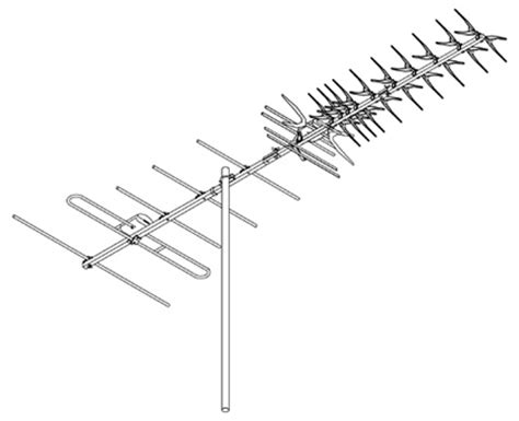 digimatch dg49 vhf uhf outdoor antenna dg49 au 199 00