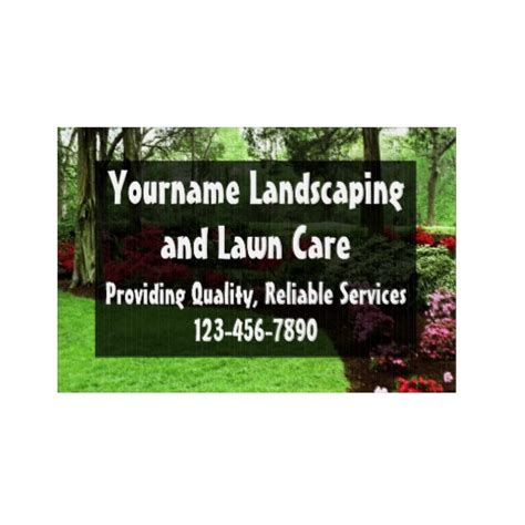 Landscape Yard Signs Lawn Care Or Landscape Business Yard Signs Zazzle