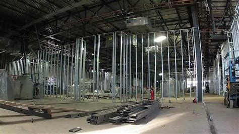 Interior Partitions steel stud wall framing construction hd quot time lapse quot youtube