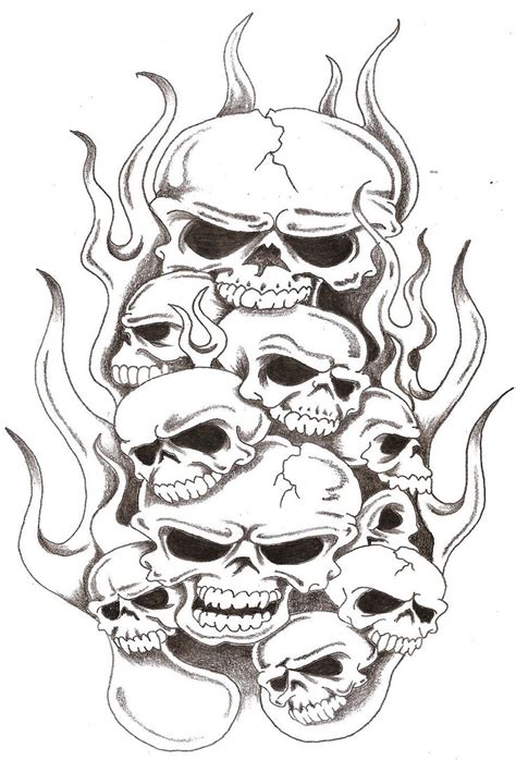 fire skull tattoo designs skulls and flames 2 by thelob on deviantart