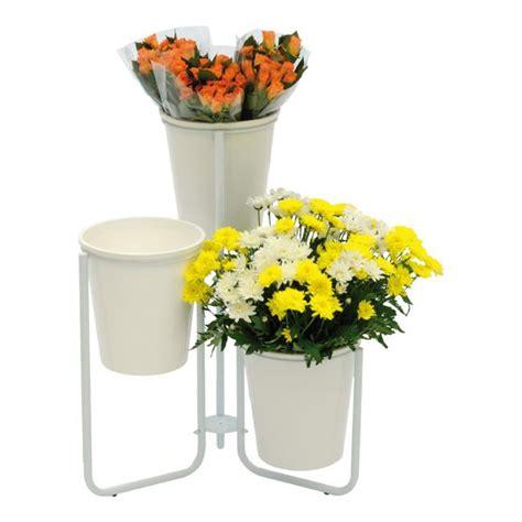 espositore fiori espositore flora 3 con vasi 3 pezzi bancali ed