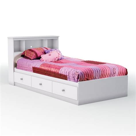 bed with bookcase headboard storage bed with