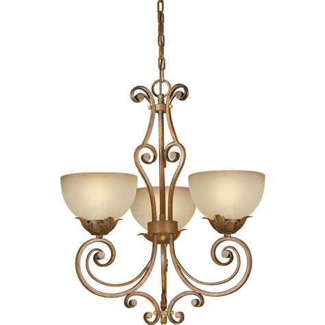 Glass Candle Chandelier Shop Shandy 19 In 3 Light Rustic Tinted Glass Candle Chandelier At Lowes