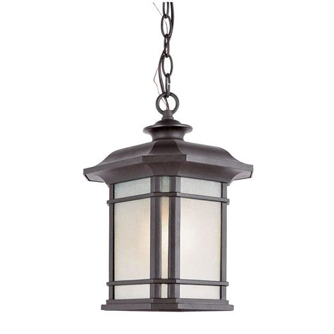 Bel Air Outdoor Lighting Bel Air Lighting 1 Light Outdoor Hanging Black Lantern Pl 5825 Bk The Home Depot
