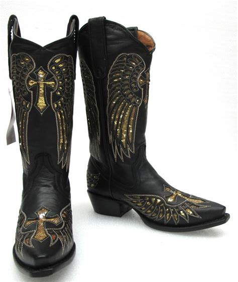 s leather handcrafted cowboy western boots