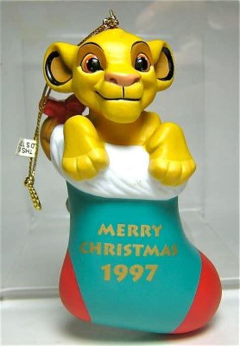 simba  gift sack merry christmas  ornament grolier   christmas collection